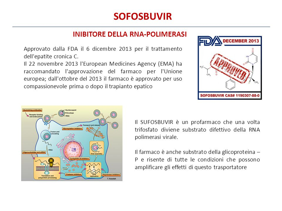 SOFOSBUVIR INIBITORE DELLA RNA-POLIMERASI