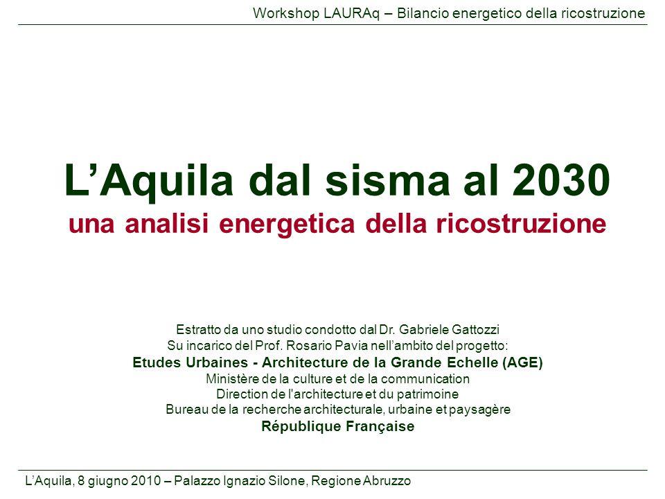 L'Aquila dal sisma al 2030 una analisi energetica della ricostruzione