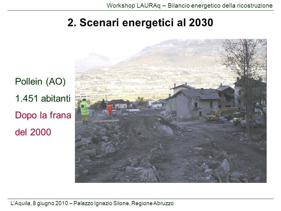 2. Scenari energetici al 2030 Pollein (AO) 1.451 abitanti