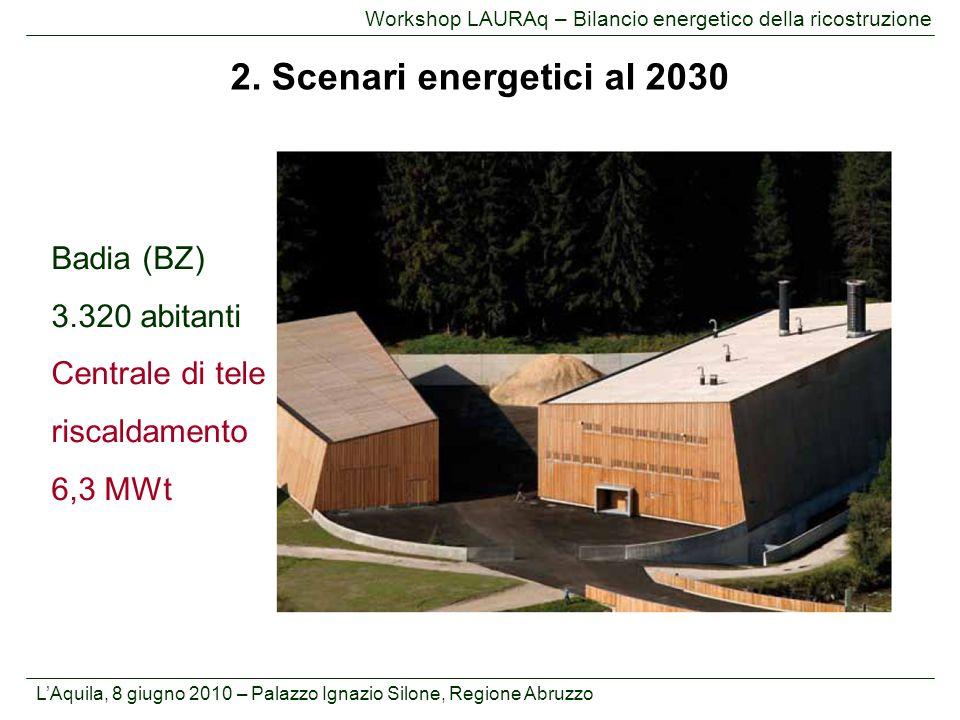 2. Scenari energetici al 2030 Badia (BZ) 3.320 abitanti