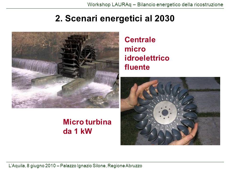2. Scenari energetici al 2030 Centrale micro idroelettrico fluente