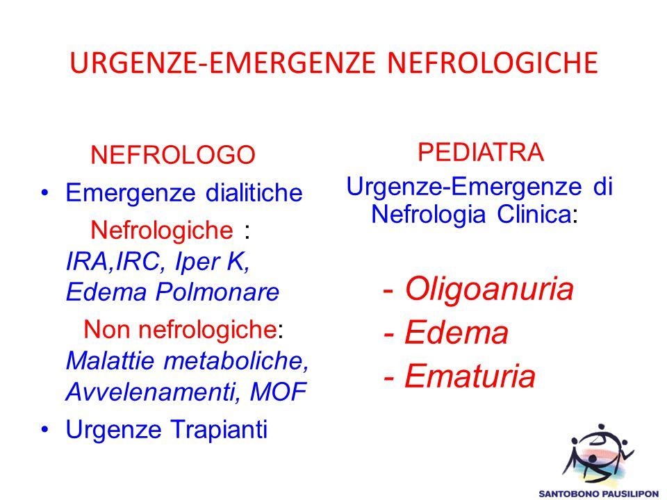 URGENZE-EMERGENZE NEFROLOGICHE