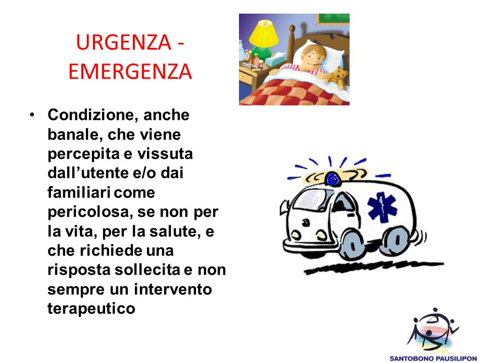 URGENZA - EMERGENZA
