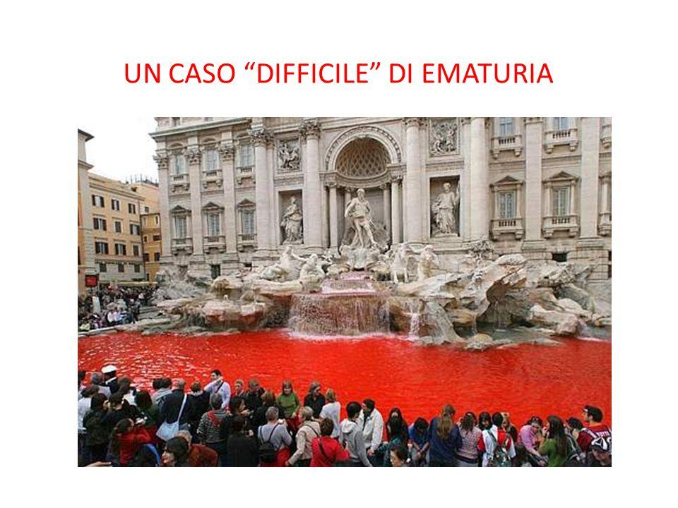 UN CASO DIFFICILE DI EMATURIA