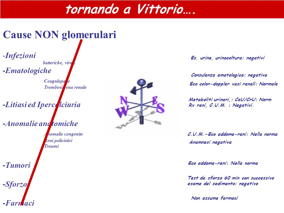 Cause NON glomerulari tornando a Vittorio…. Infezioni -Ematologiche