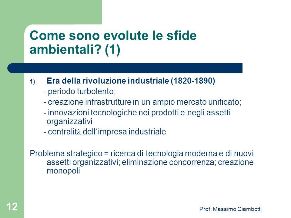 Come sono evolute le sfide ambientali (1)