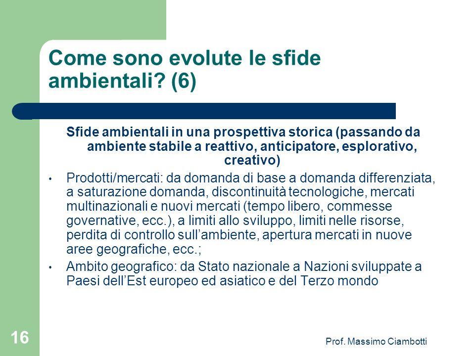 Come sono evolute le sfide ambientali (6)