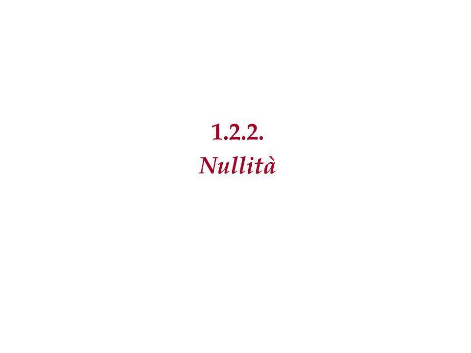 1.2.2. Nullità 20