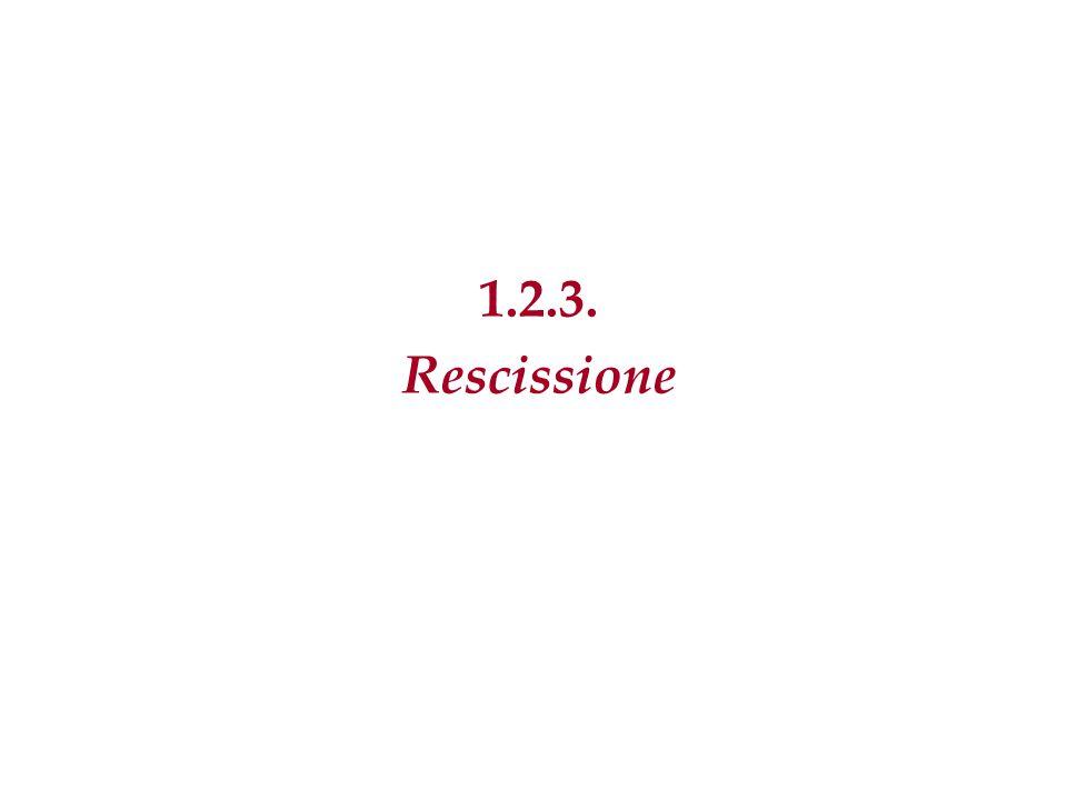 1.2.3. Rescissione 26