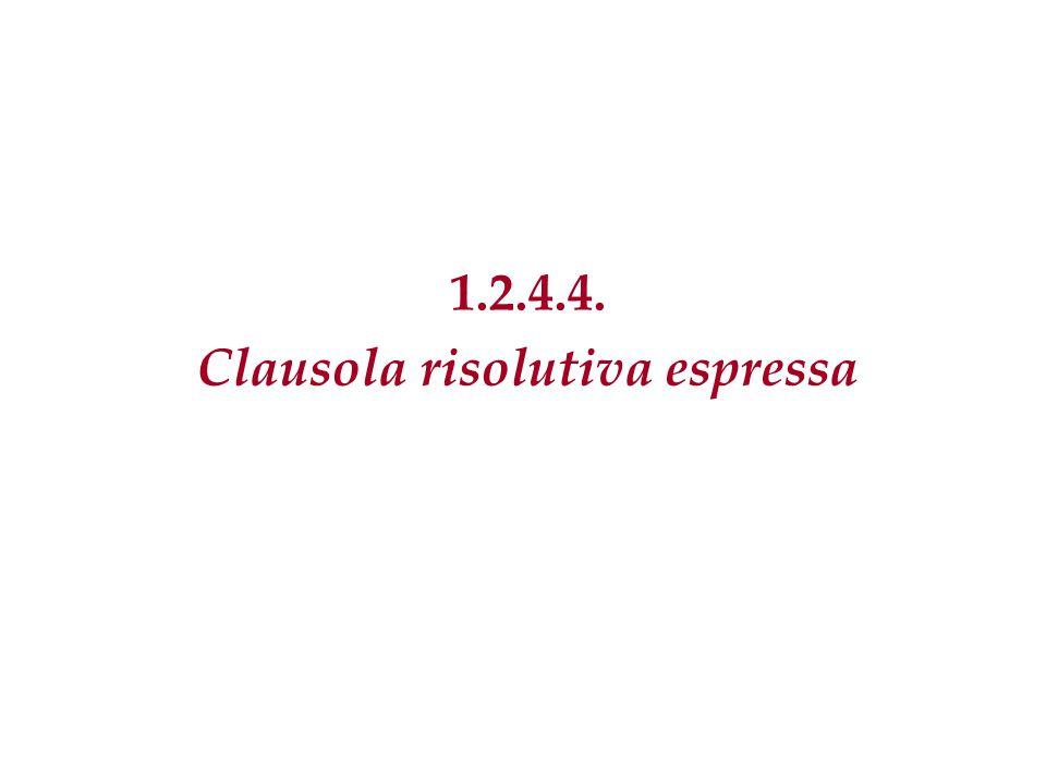 Clausola risolutiva espressa