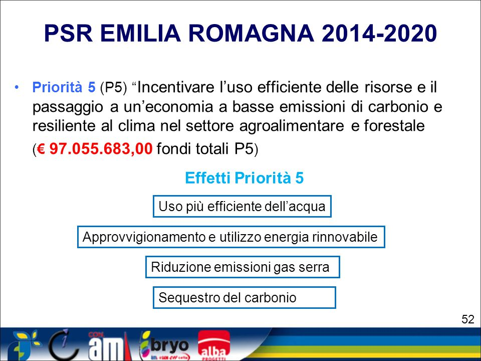 PSR EMILIA ROMAGNA 2014-2020 (€ 97.055.683,00 fondi totali P5)