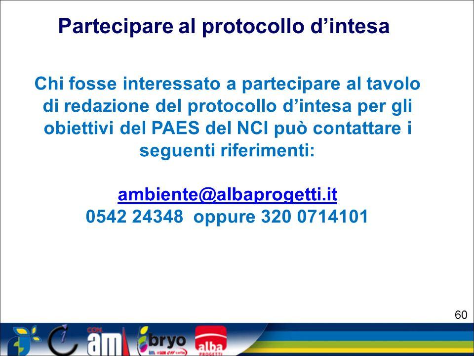 Partecipare al protocollo d'intesa