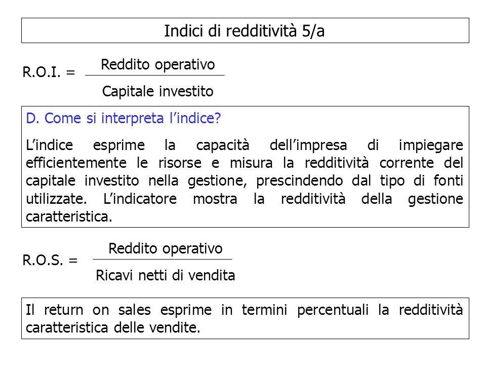 Indici di redditività 5/a