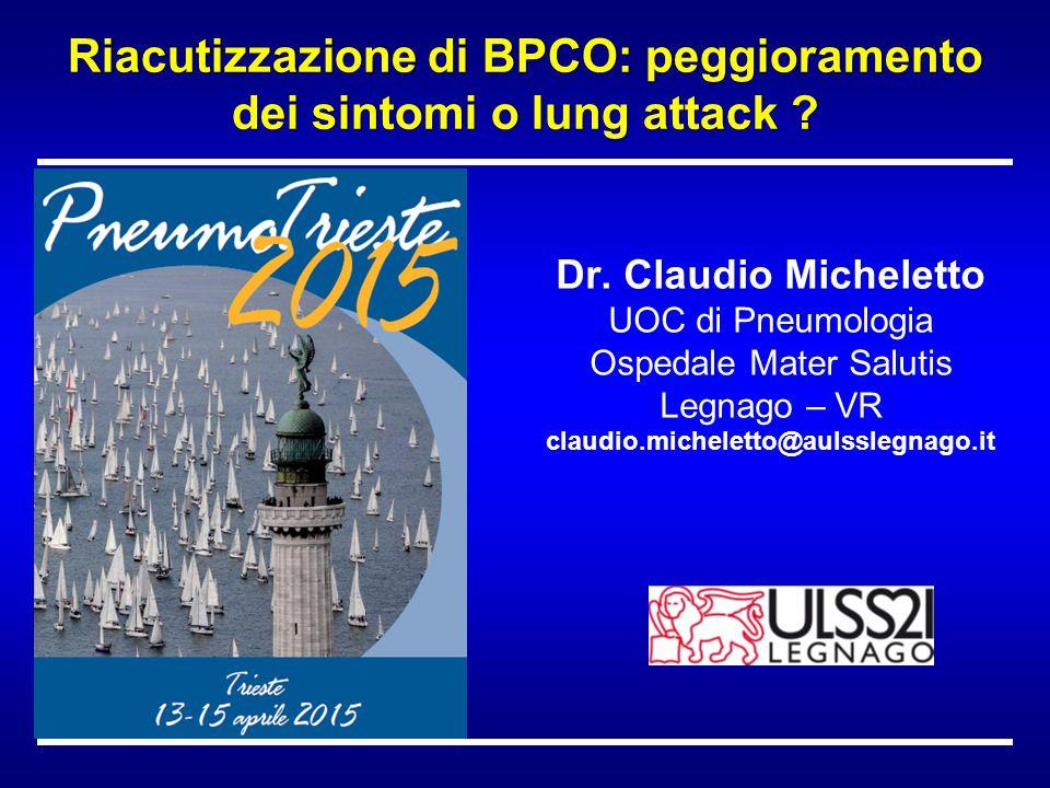 Riacutizzazione di BPCO: peggioramento dei sintomi o lung attack