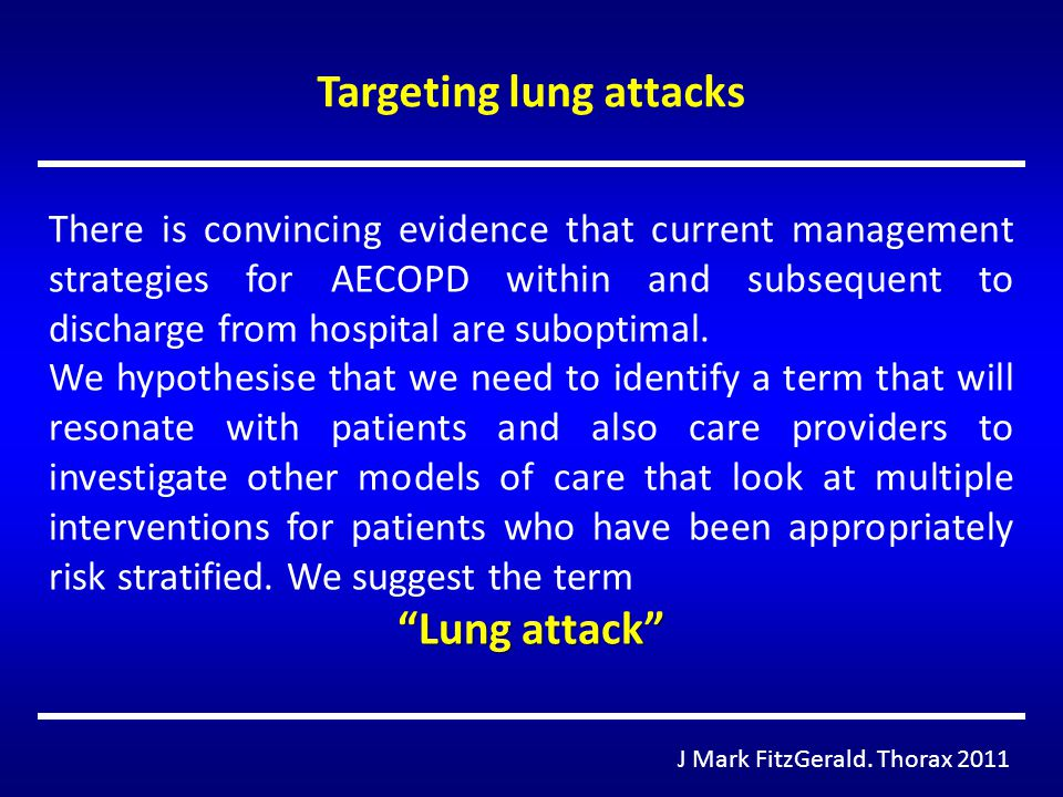 Targeting lung attacks