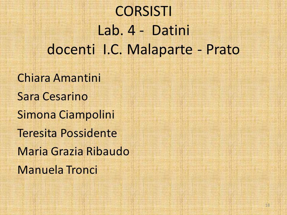 CORSISTI Lab. 4 - Datini docenti I.C. Malaparte - Prato