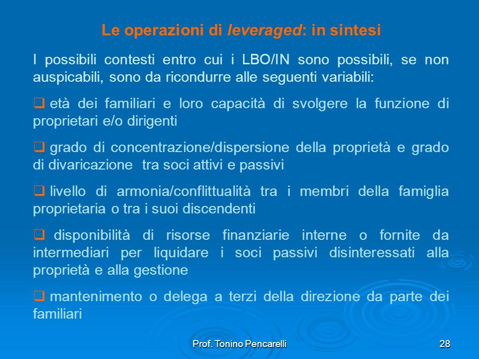 Le operazioni di leveraged: in sintesi