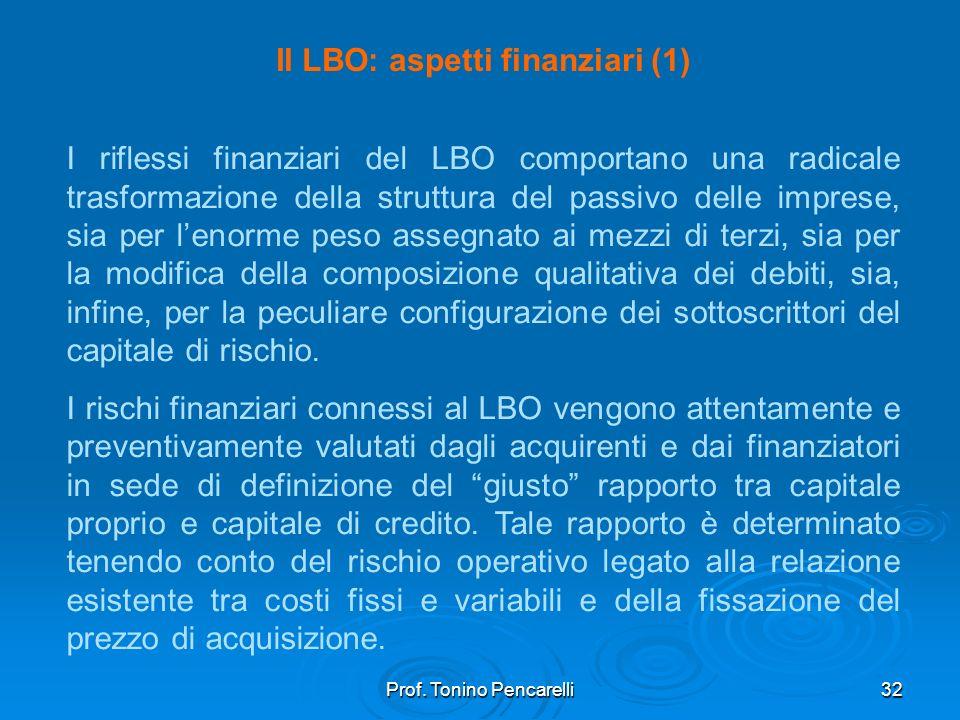 Il LBO: aspetti finanziari (1)