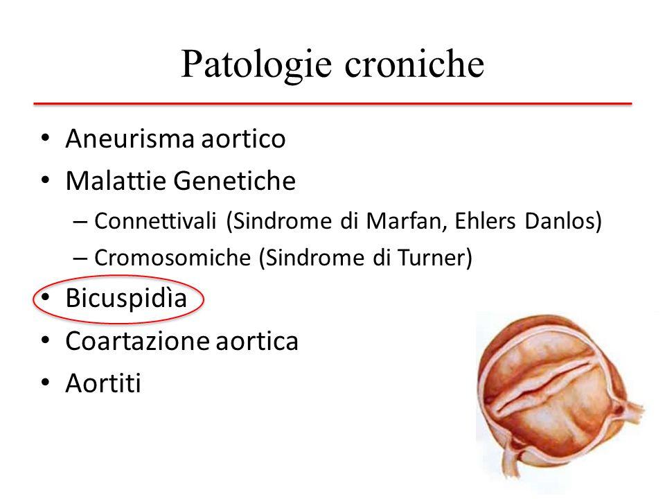 Patologie croniche Aneurisma aortico Malattie Genetiche Bicuspidìa