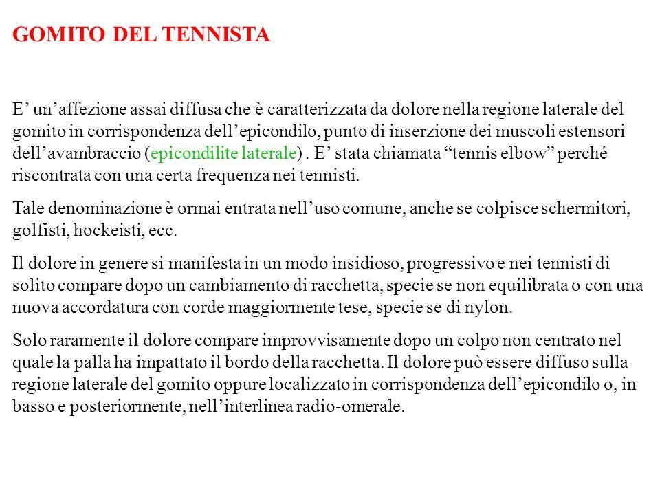 GOMITO DEL TENNISTA