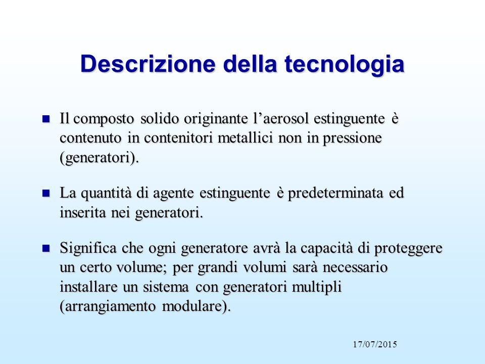 Descrizione della tecnologia