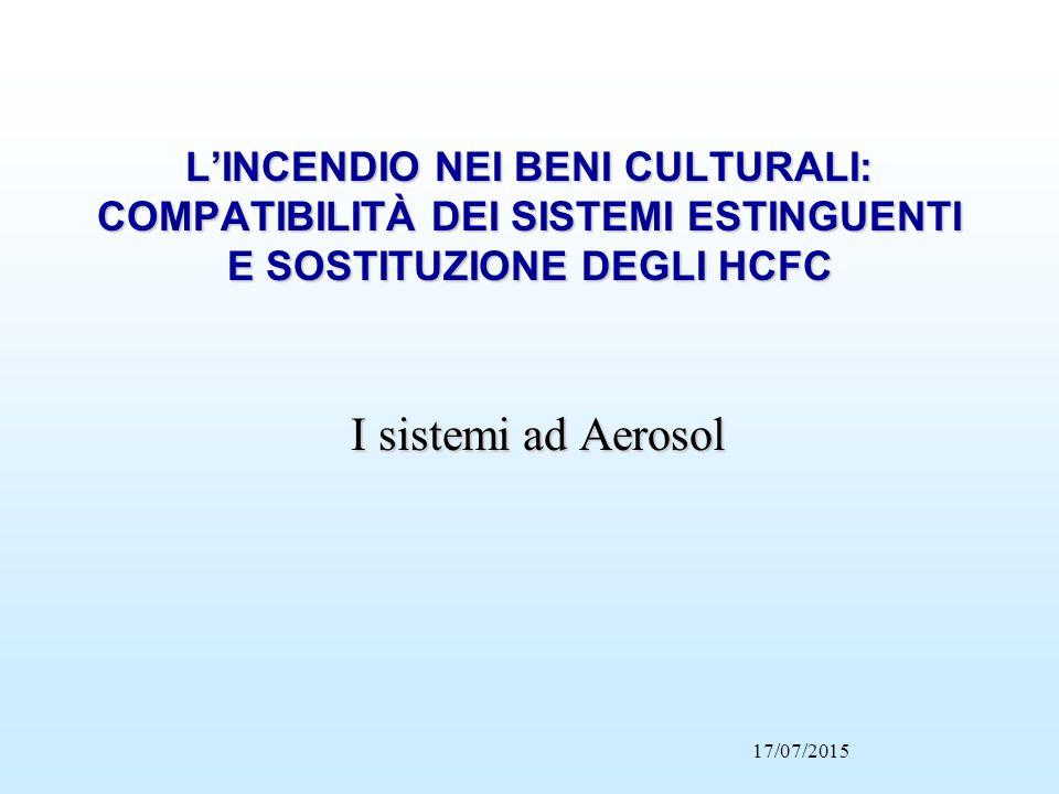 L'INCENDIO NEI BENI CULTURALI: COMPATIBILITÀ DEI SISTEMI ESTINGUENTI E SOSTITUZIONE DEGLI HCFC