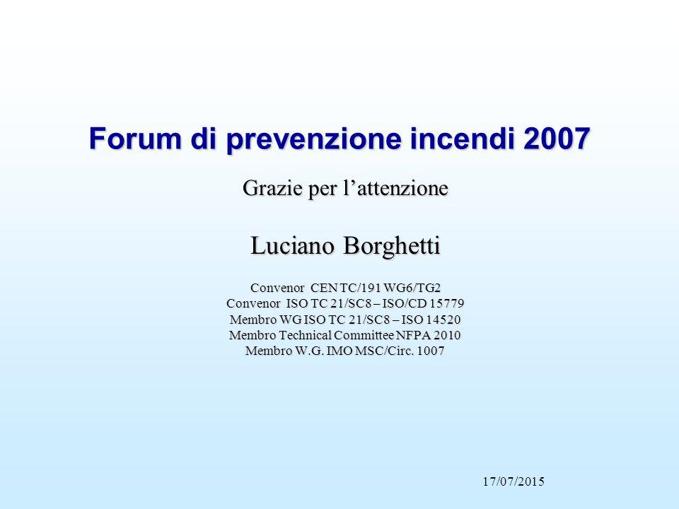 Forum di prevenzione incendi 2007