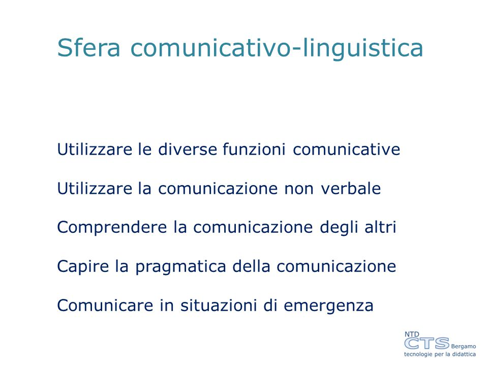 Sfera comunicativo-linguistica