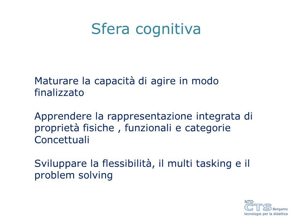 Sfera cognitiva Maturare la capacità di agire in modo finalizzato