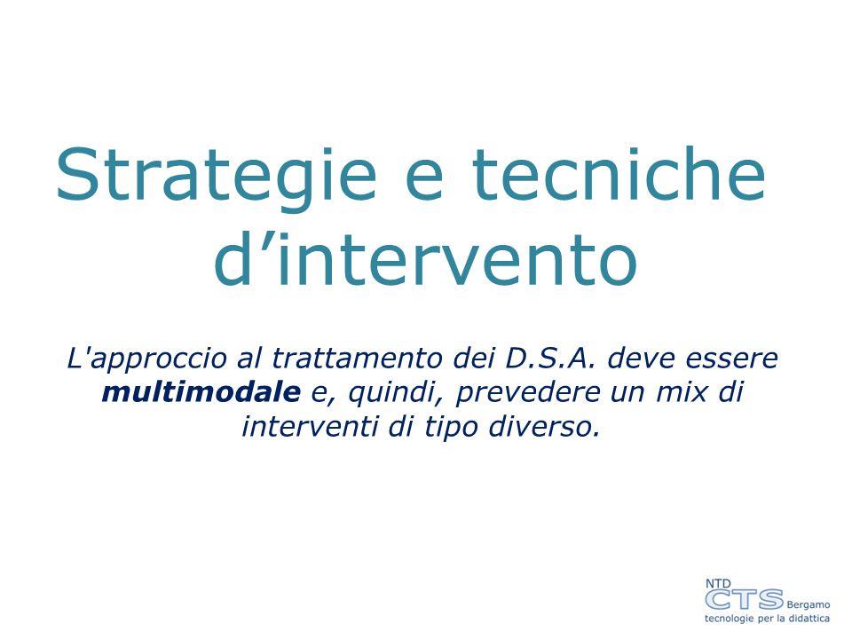 Strategie e tecniche d'intervento