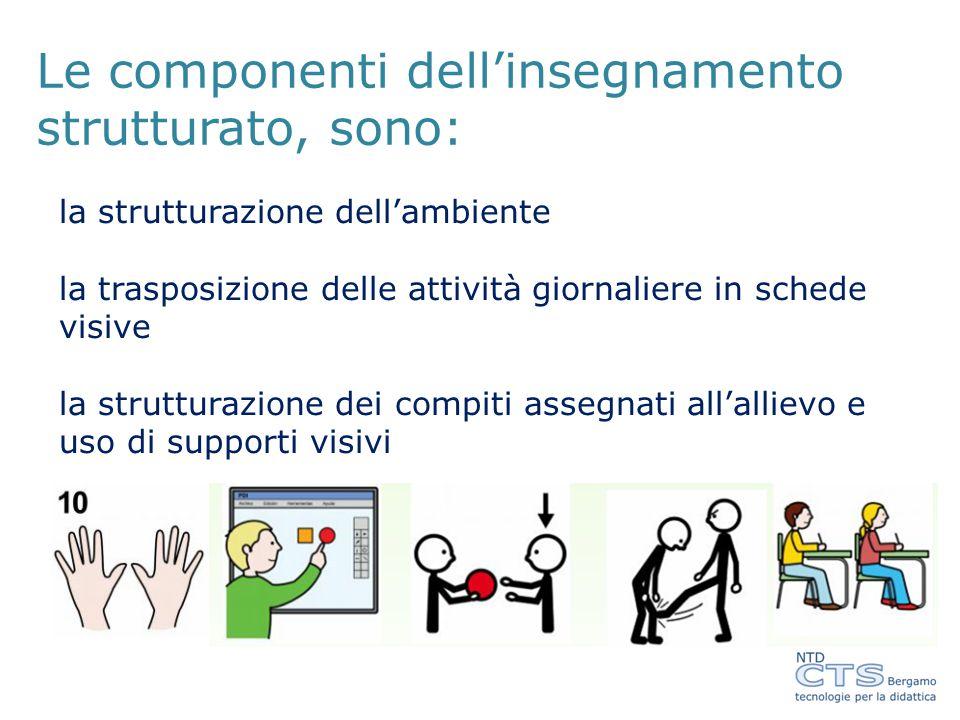 Le componenti dell'insegnamento strutturato, sono: