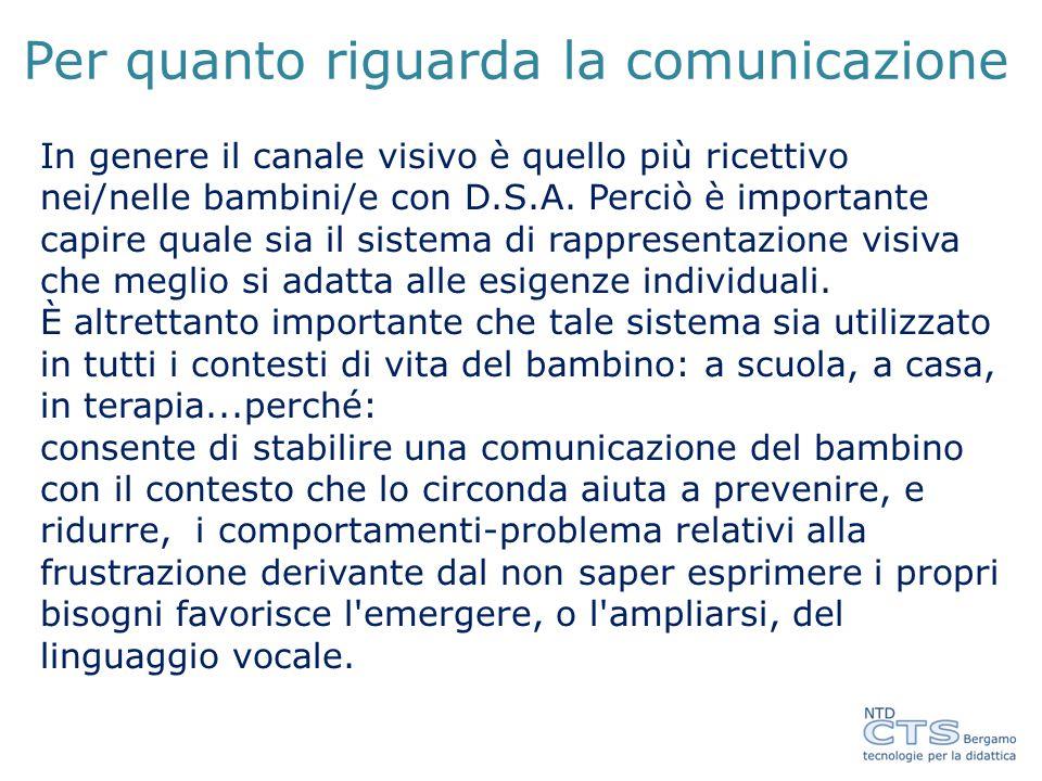 Per quanto riguarda la comunicazione
