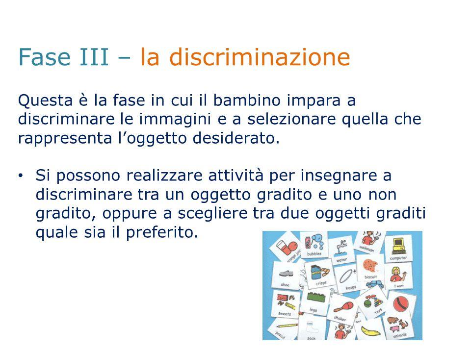 Fase III – la discriminazione