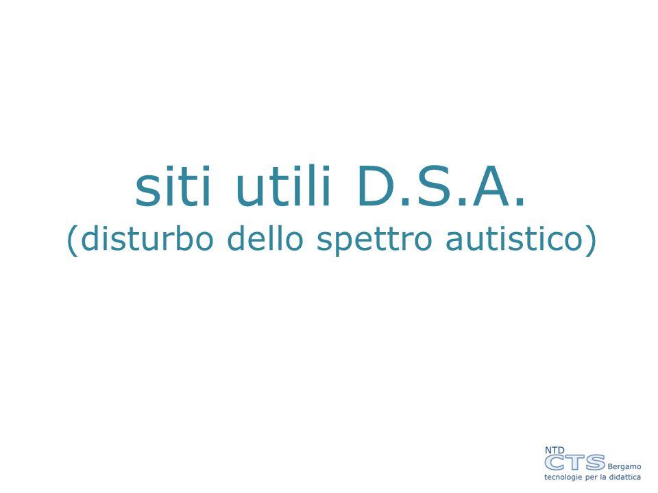 siti utili D.S.A. (disturbo dello spettro autistico)