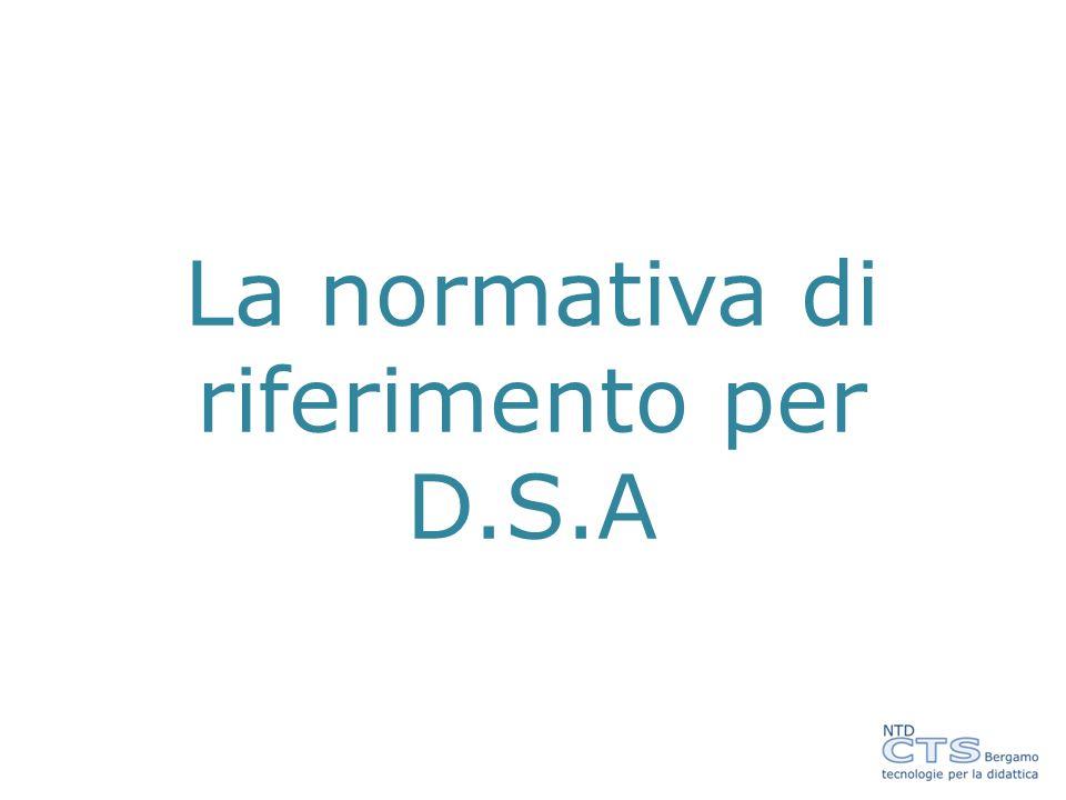 La normativa di riferimento per D.S.A