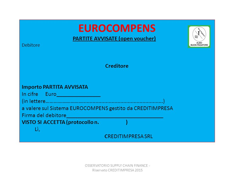 Osservatorio SUPPLY CHAIN FINANCE 2015-2016