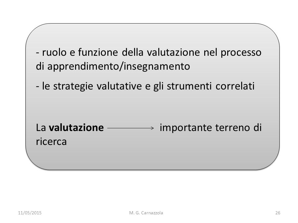 le strategie valutative e gli strumenti correlati