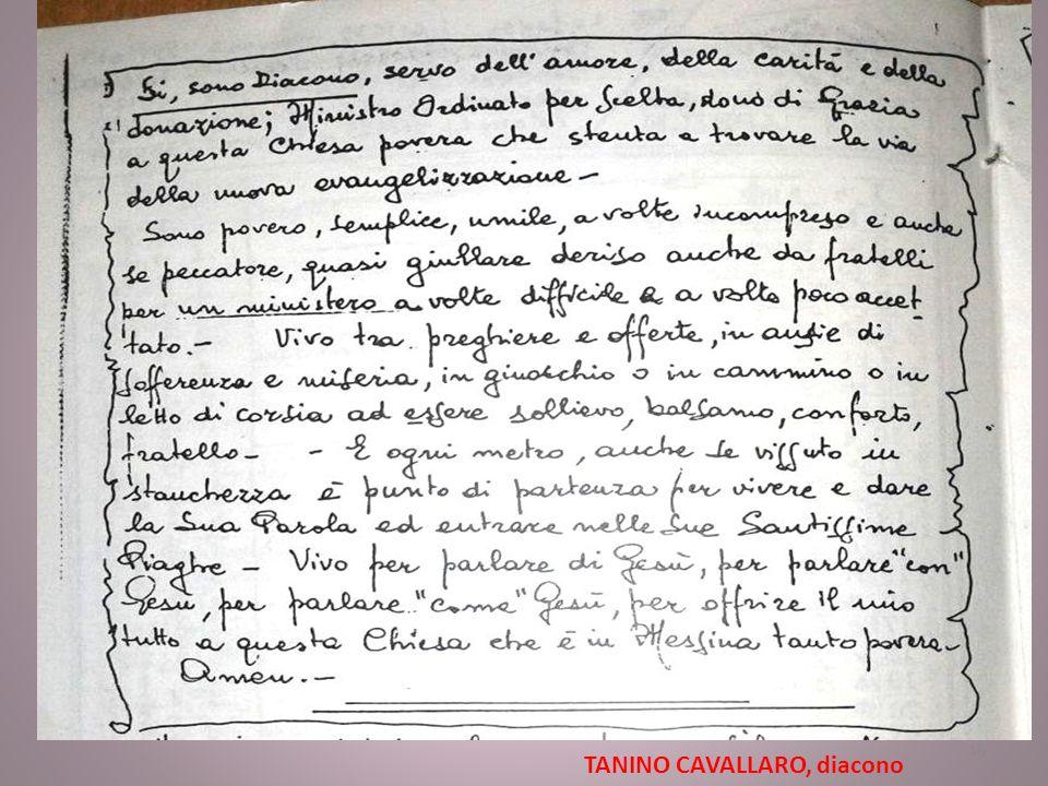 TANINO CAVALLARO, diacono