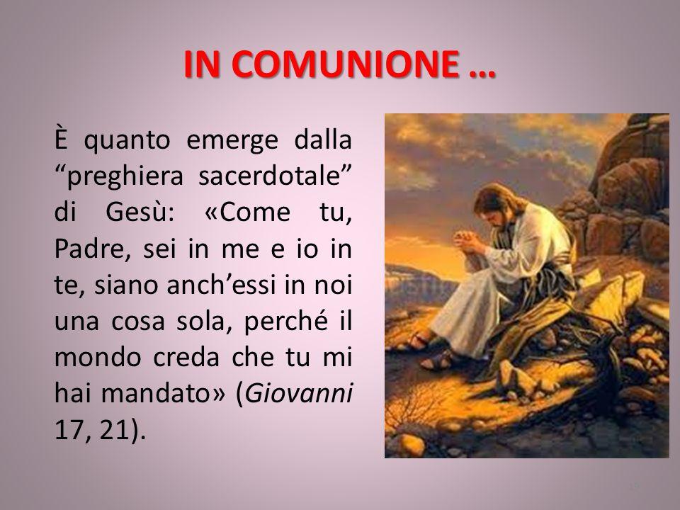 IN COMUNIONE …