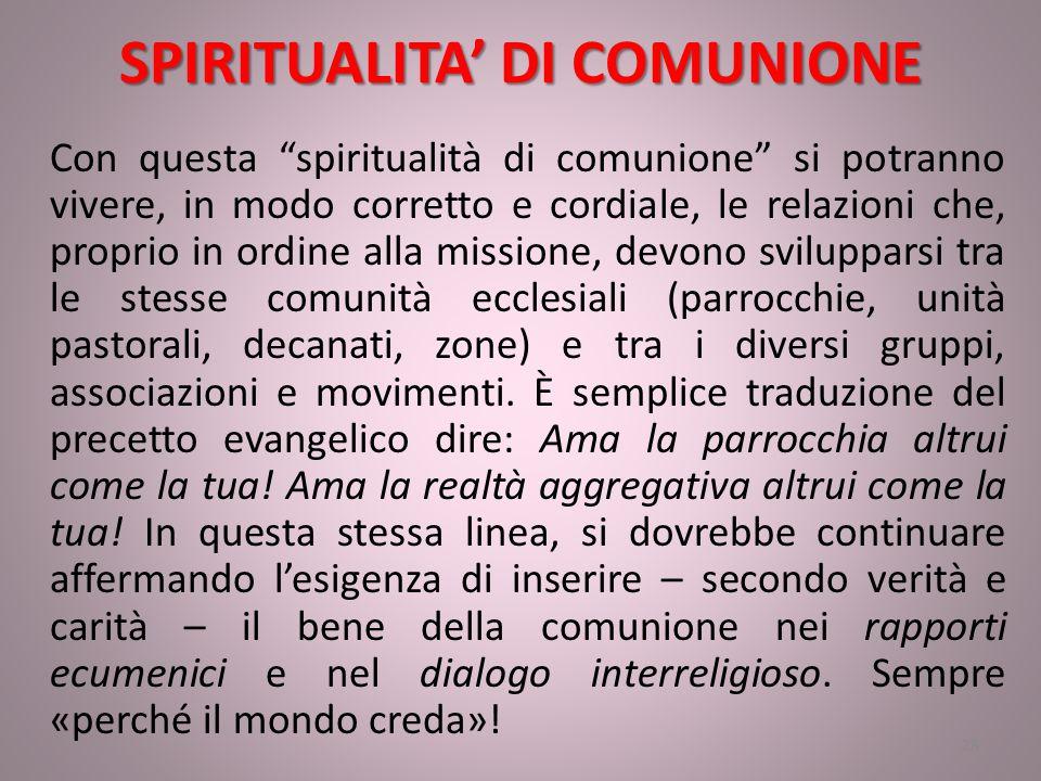 SPIRITUALITA' DI COMUNIONE