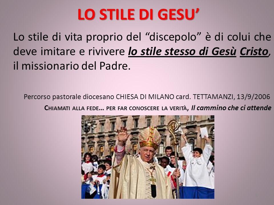 LO STILE DI GESU'