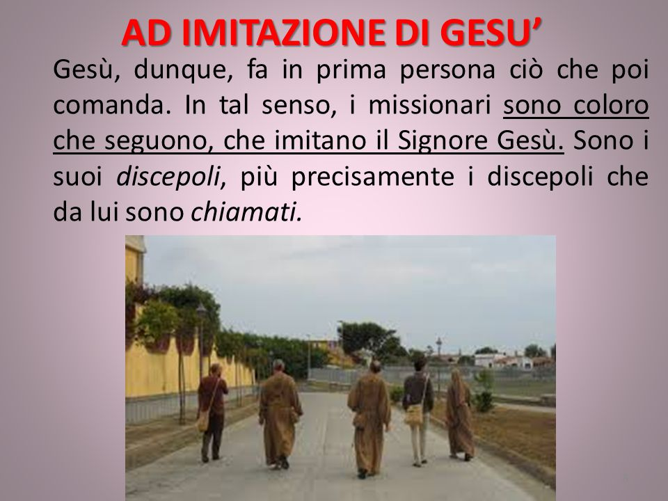 AD IMITAZIONE DI GESU'