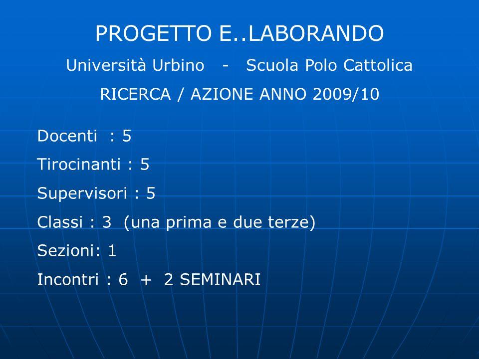 Università Urbino - Scuola Polo Cattolica