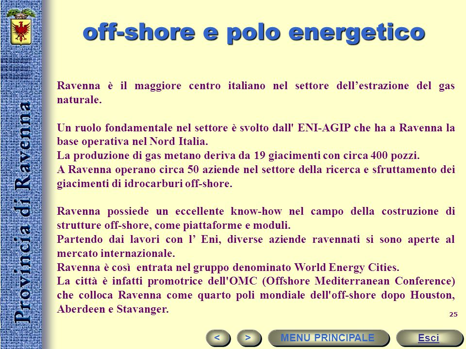 off-shore e polo energetico