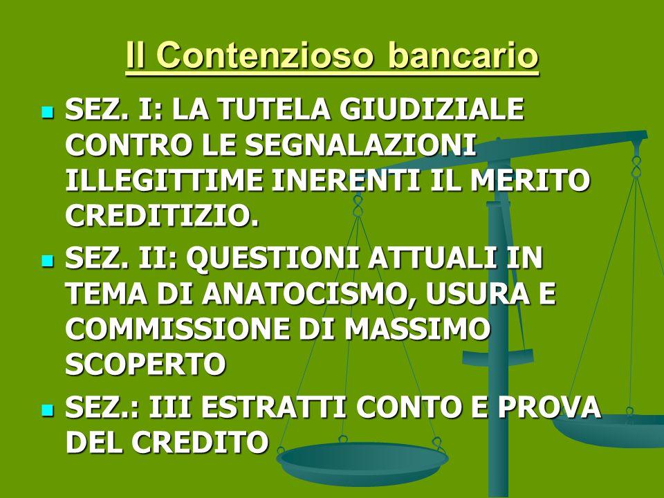 Il Contenzioso bancario