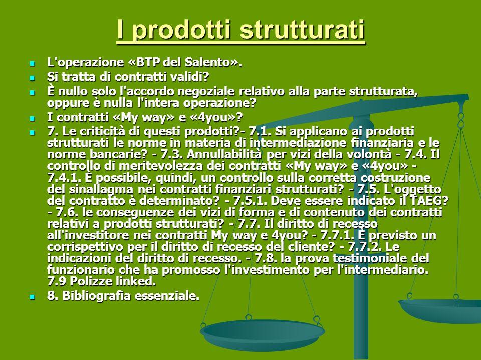 I prodotti strutturati