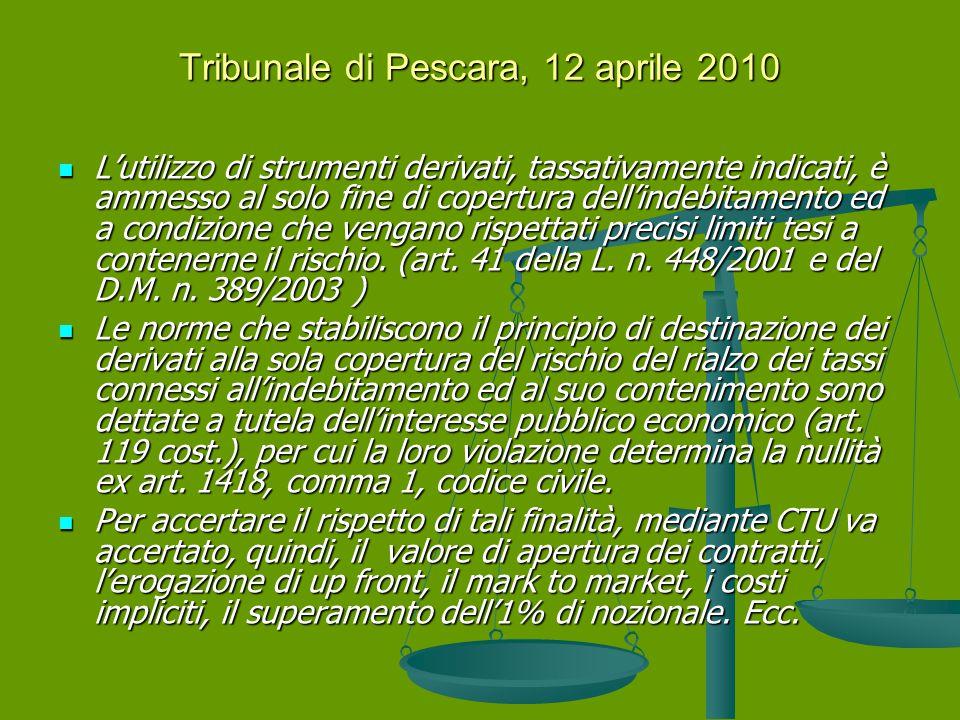 Tribunale di Pescara, 12 aprile 2010