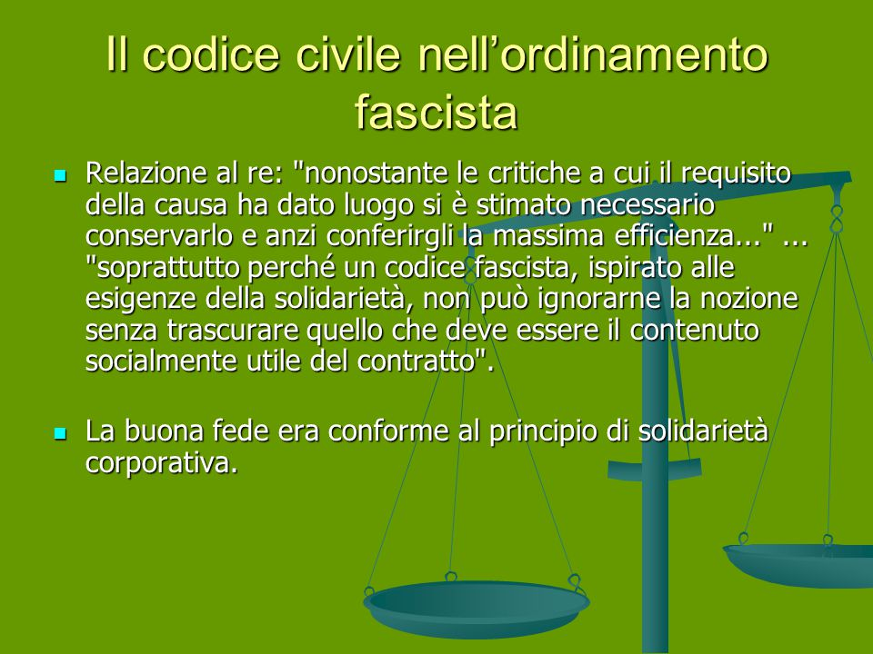 Il codice civile nell'ordinamento fascista