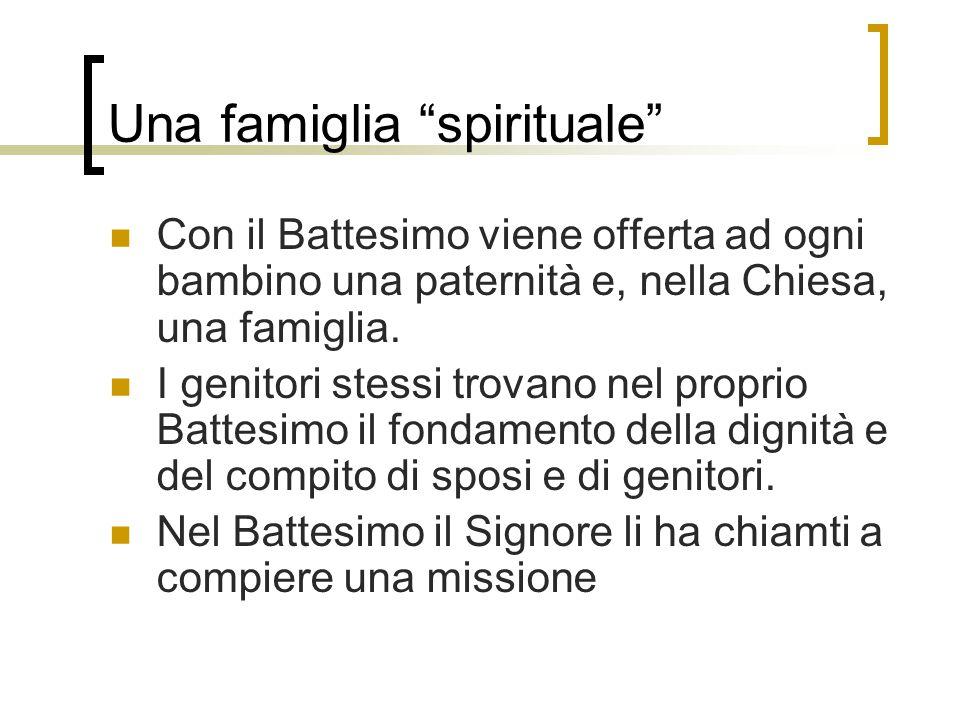 Una famiglia spirituale