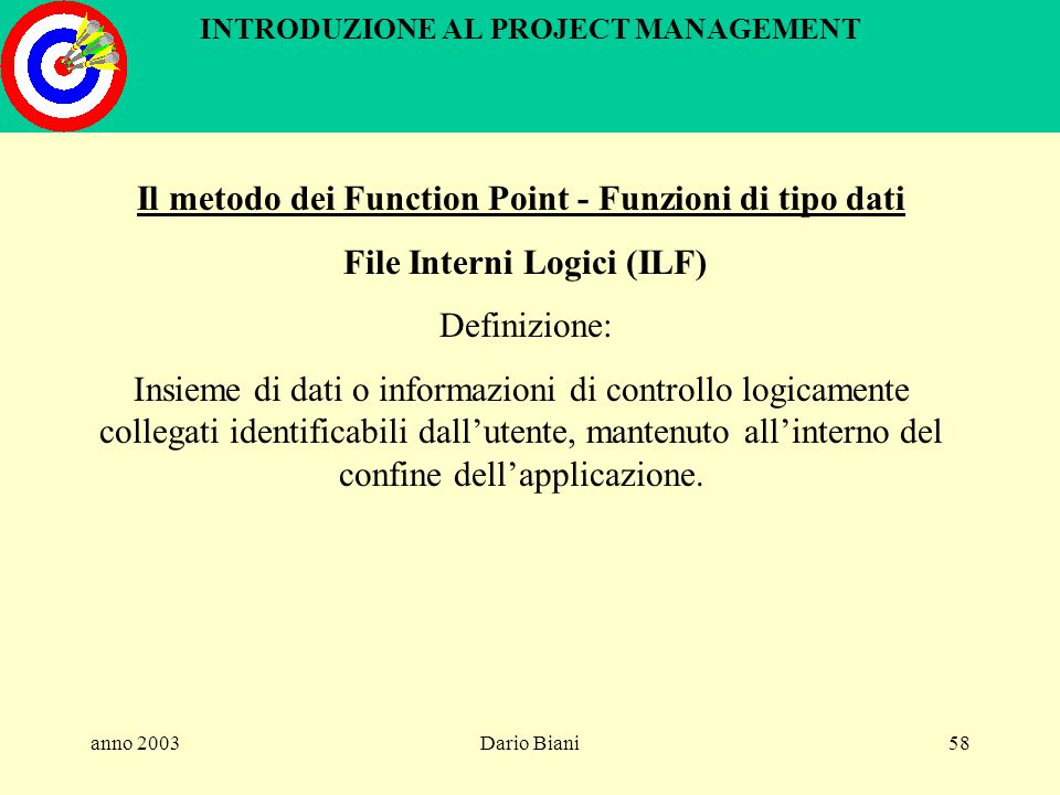 INTRODUZIONE AL PROJECT MANAGEMENT